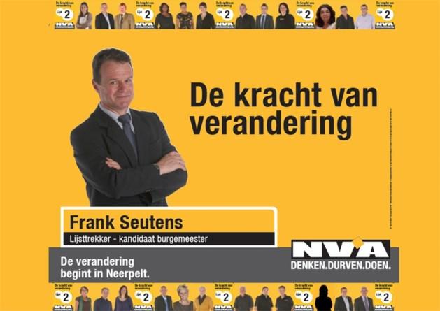 N-VA Neerpelt verschijnt met leuke affiche in het straatbeeld
