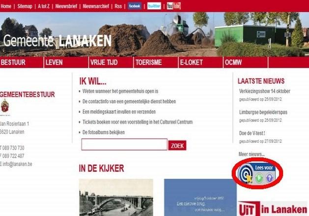 Website Lanaken eerste met voorleeshulp voor blinden en slechtzienden
