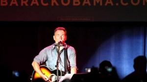 Bruce Springsteen treedt op voor campagne Obama