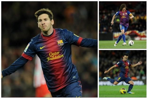 Messi, Xavi en Puyol verlengen contract bij Barcelona