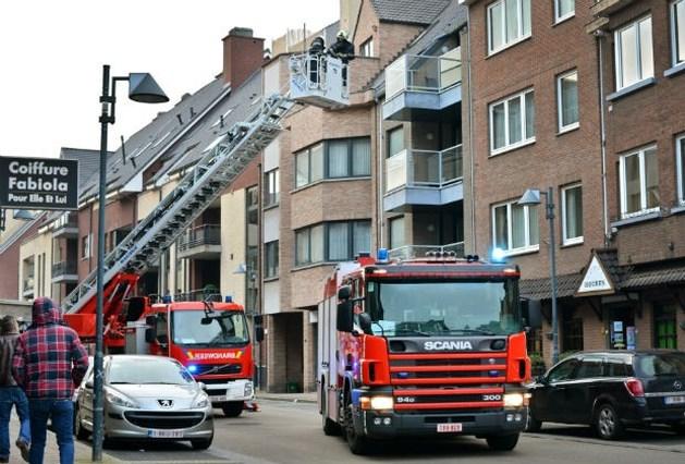 Schouwbrand in hotel Houben in Genk