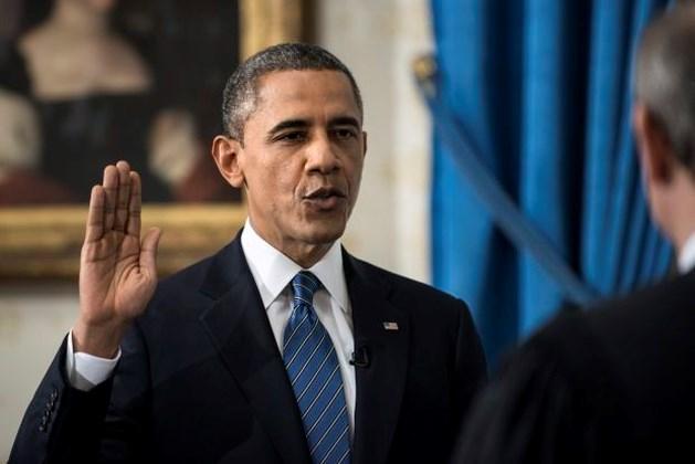 Barack Obama legt eed af voor tweede ambtstermijn