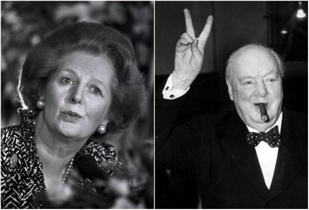 """Thatcher populairder dan Winston Churchill"""