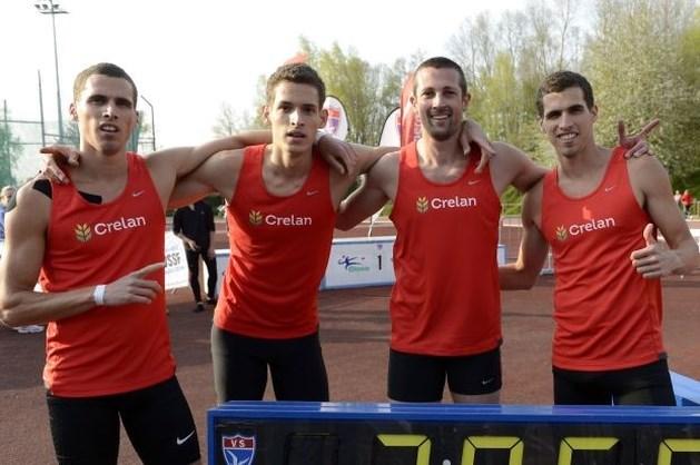 Broers Borlée en Arnaud Destatte lopen Belgisch clubrecord op 4x400m