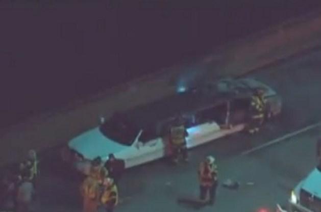 Vijf vrouwen sterven bij brand in limousine in Californië