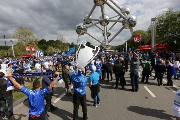 Genk-fans maken sfeer in Brussel (fotoalbum)