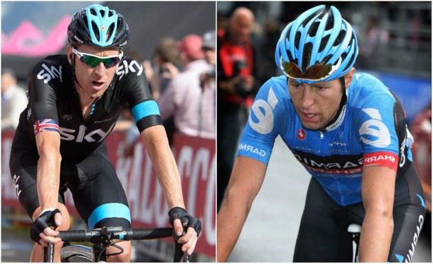 Hesjedal en Wiggins stappen uit de Giro