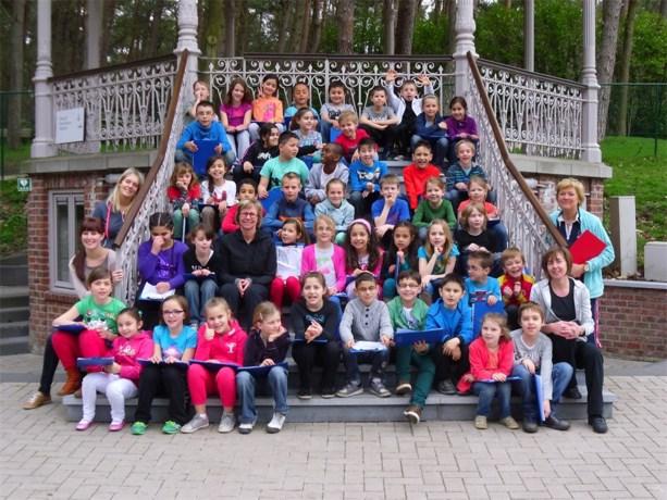 De bosklassen van het 3de leerjaar van de Beerring waren superleuk
