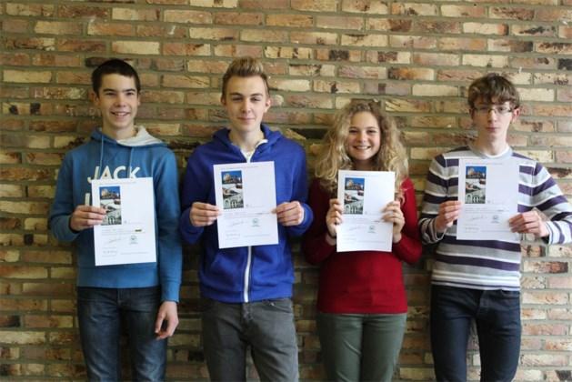 Europees examen Latijn: medailles voor leerlingen Agnetendal