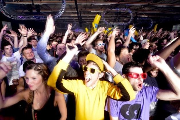 Rellen na technoparade in Bern