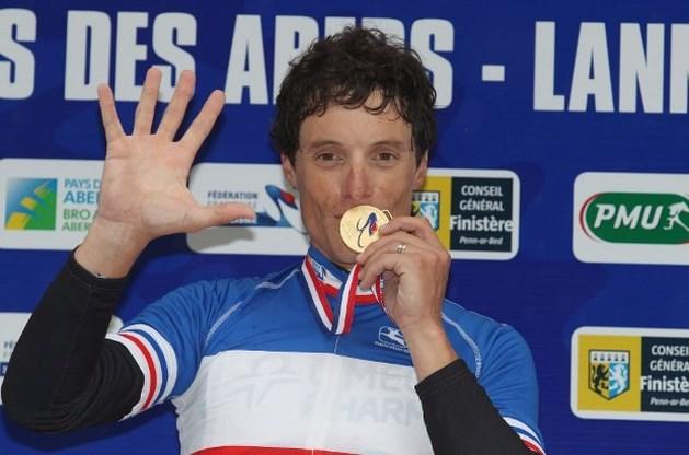 Sylvain Chavanel voor vijfde keer Frans kampioen tijdrijden