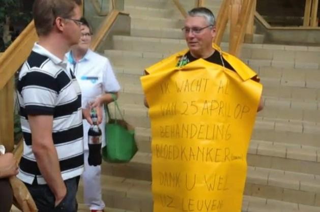Lummenaar protesteert in ziekenhuis tegen late levering pillen (video)