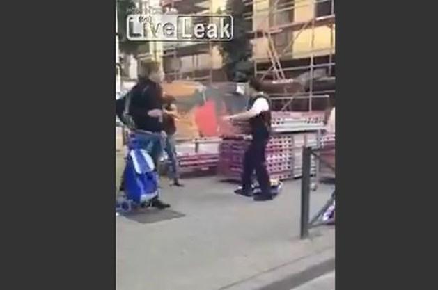 Brusselse politie start onderzoek naar meppende agent (video)