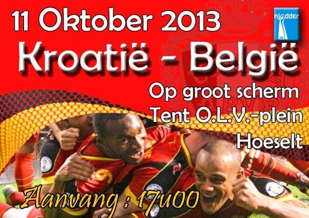 WK-wedstrijd Kroatië-België op 11 oktober op groot scherm