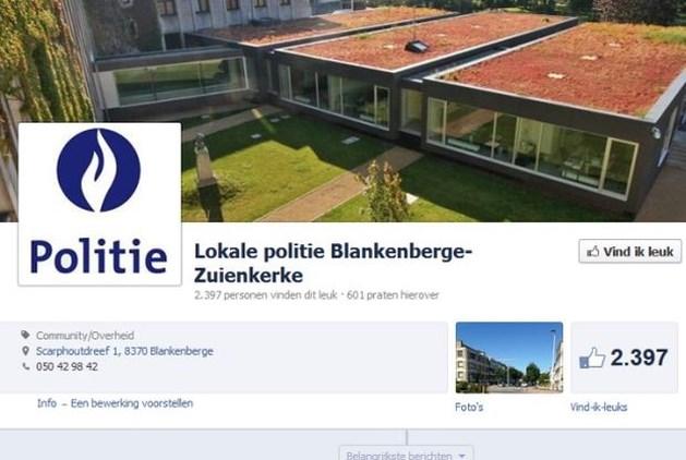 Blankenbergse politie zet dode vrouw op Facebook