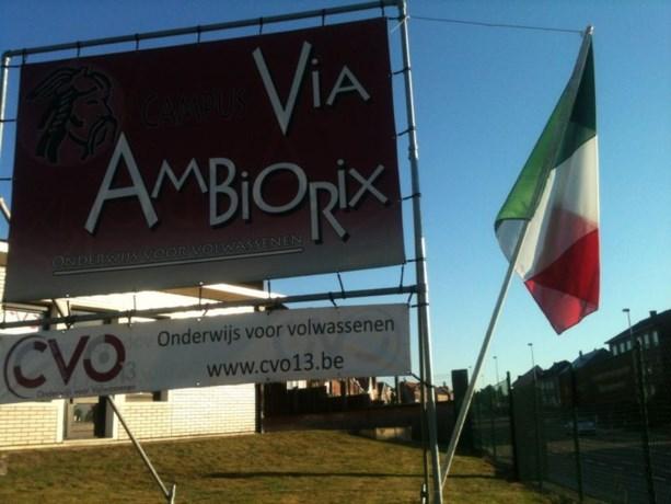 Italiaanse vlag wappert bij CVO13 te Tongeren!