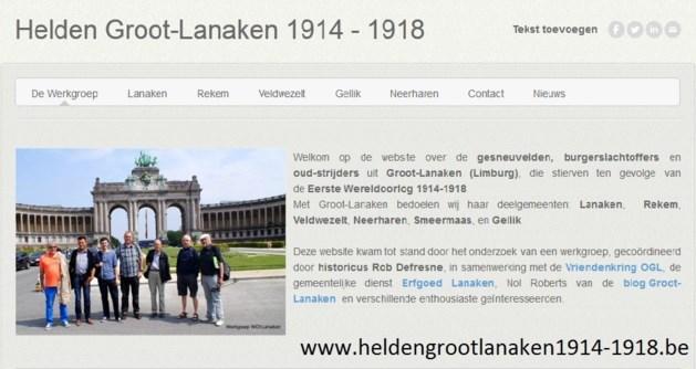 Website 'Helden Groot-Lanaken 1914-1918' online
