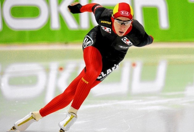 Bart Swings schaatst Belgisch record