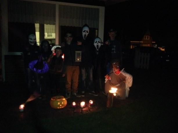 Eerste halloweentocht  familie Agten was een succes