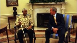 Bill Clinton en George W. Bush wonen herdenkingsplechtigheid Mandela bij