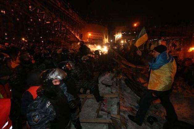 Ordetroepen bestormen Onafhankelijkheidsplein Kiev