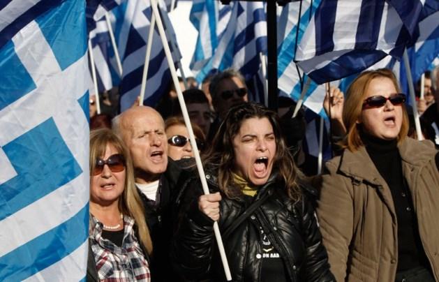 Neonazi's Gouden Dageraad betogen in Athene tegen bouw moskee