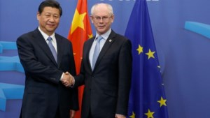 Chinese president ontvangen door Herman Van Rompuy