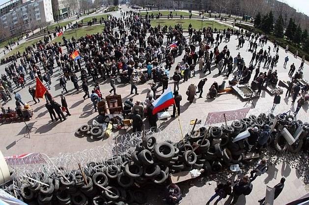 """Pro-Russische separatisten roepen """"soevereiniteit"""" van stad Donetsk uit"""