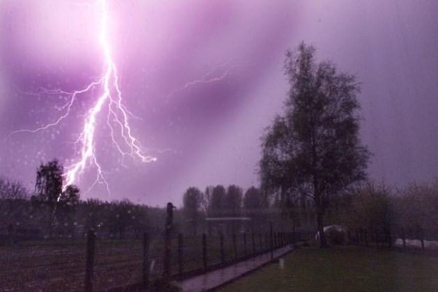 KMI waarschuwt voor felle onweersbuien
