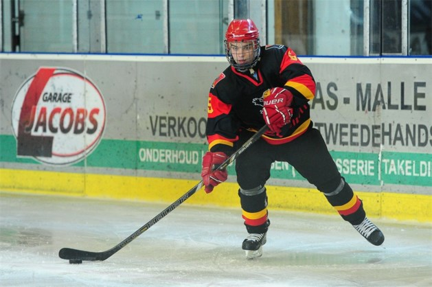 Lommelaar Brian Vandenberk op WK U18 ijshockey
