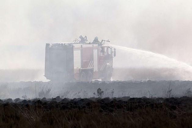 Brandweer blust na in Hoge Veluwe
