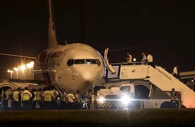 Vlucht Malaysia Airlines maakt noodlanding