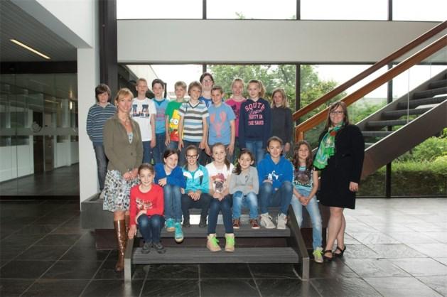 5B school Boxbergheide bezoekt Het Belang van Limburg