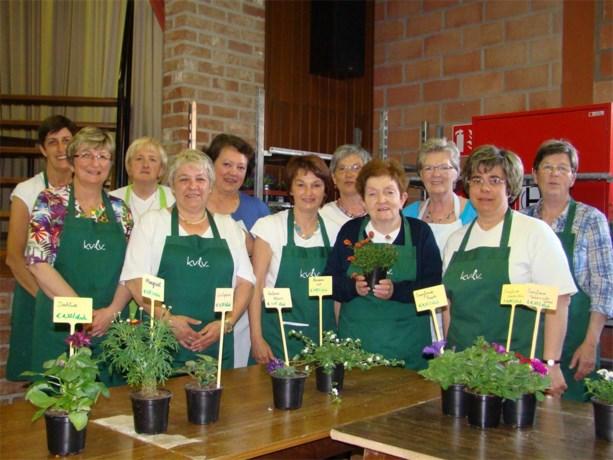 Bloemenmarkt van KVLV-dames in Vechmaal