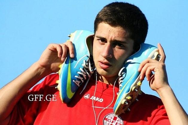 Jonge Georgiër Zarandia op weg naar KRC Genk