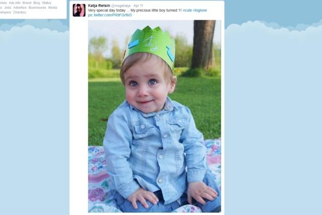 Te schattige foto: Katja Retsins zoontje viert eerste verjaardag